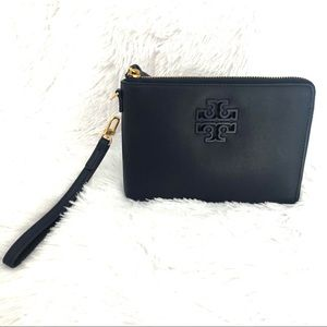 Tory Burch Lily Large Zip Pouch Royal Navy